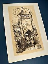 Die Verschworenen Original 1870 Plakat Malkasten Düsseldorf Schuberth Operette