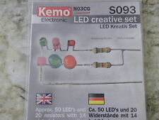 Creative Kit Set 50 LEDs 20 Resistors 14 Picture Diagram Mixed Colours Teaching#