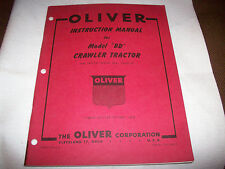 "Original 1950 Oliver Model ""BD"" Crawler Tractor Operator's Manual Nice"