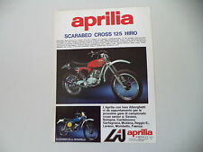 advertising Pubblicità 1976 MOTO APRILIA SCARABEO CROSS 125 HIRO
