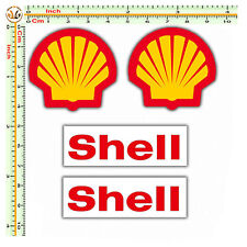 sticker shell adesivi auto moto casco sponsor shell decal helmet  4 pz.