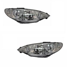 Peugeot 206 1998-6/2003 Headlights Headlamps Lighting Part 1 Pair O/S & N/S