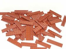 NEW LEGO Reddish Brown 2X8 Plates Lot of 50 Pieces 3034
