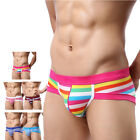 Sexy Underwear Boys Mens Stripe Briefs Shorts Bulge Pouch Soft Cotton Underpants