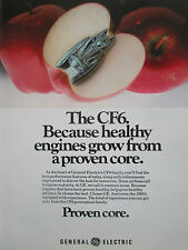 2/1980 PUB GENERAL ELECTRIC CF6 ENGINE MOTEUR POMME APPLE APFEL ORIGINAL AD