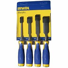 Irwin MARPLES BUTT CHISEL SET 4 Pieces Large Strike Cap, Soft Grip USA Brand