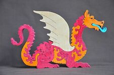 Dragon Fantasy Toy  Wooden  Puzzle Amish Made Animal Toy  USA