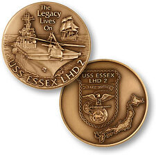 NEW USS Essex LHD 2 Challenge Coin. 60738.