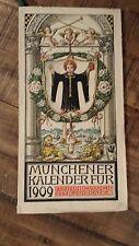 MÜNCHENER KALENDERFÜR FÜNFUNDZWANZIG STER JAHRGANG - German Calendar 1909