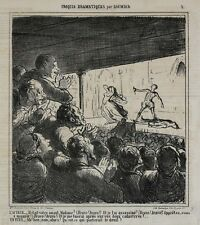 Honore Daumier France 1808-1879 Lithograph Croquis Dramatiques No 2.