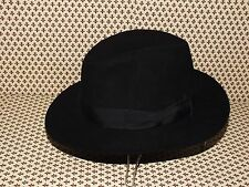 borsalino hat fedora vintage fur felt made in italy (28) 100%genuine  7 3/8-59