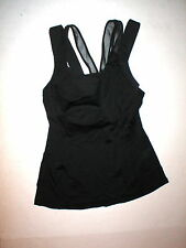 NWT New Womens Lululemon Tank Top 10 Black Super Sport Yoga Bra Gym Walk Open Ba