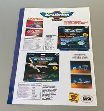 Vintage PAPER EXCLUSIVE# GALOOB MICRO MACHINES SPAZIO  STAR WARS#  TREK#  RARE
