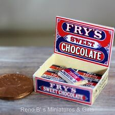 Dollhouse miniatures 1:12 Fry's Tiffin Sweet Chocolate Counter Display Box NEW