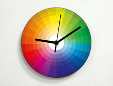 Color Samples Circle - CMYK RGB Pantone - Pattern Design - Wall Clock