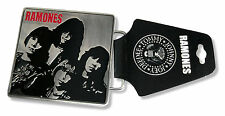 "RAMONES ""R&R PARADISE"" BAND PHOTO SQUARE METAL BELT BUCKLE NEW OFFICIAL ADULT"