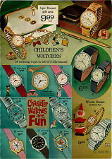1967 ADVERTISEMENT 2 Page Character Watch Man From UNCLE Barbie Cinderella