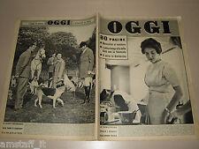 OGGI=1959/46=MARIA PIA DI SAVOIA=ORIAGO MIRA=SARNO=SALONE AUTO TORINO=MUSUMECI