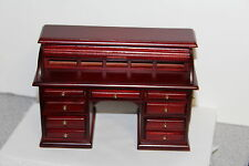 DOLL HOUSE Victorian Roll Top Desk