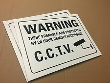 Remote Recording  CCTV WARNING SIGNS _ TWIN PACK 400 x 300