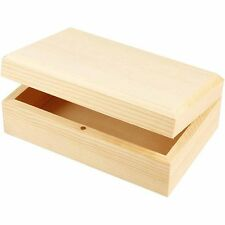 Plain Wooden Jewellery Gift Box Medium - Magnetic Closure - Decorate Paint Craft