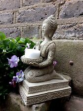 Beautiful Detailed Buddhas T/light Statue For The Home Or Garden.  From  Sius