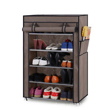 5 Layer Multiporpose Storage Rack Cum Shoe Rack With Cover Cupboard Foldable