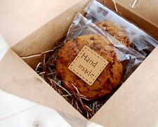 "100pcs""Handmade""Sticker Kraftpaper seals label packing gift,baking,craft,cookies"