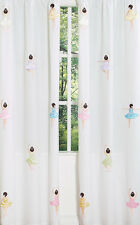 SWEET JOJO PINK BALLERINA BALLET KID WINDOW TREATMENT PANELS CURTAINS COVERINGS
