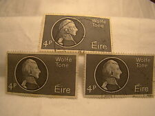 Ireland Stamp 1964 Scott 192 A48  Wolfe Tone 4 P Set of 3