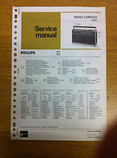 Philips 22RR322 Radio Recorder Service Manual - Vintage Radio Audio 60's 70's