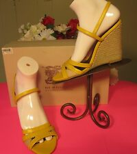 BURBERRY HAYMARKET BROGUE EFFINGHAM WEDGE HEEL SANDAL - SIZE 7 1/2 / EURO 38