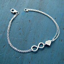 Damen Infinity Armkette Farbe: Silber Armband Schmuck Eternity Unendlichkeit *