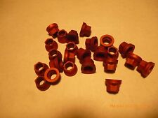 """30 aluminum, racing, 3/8"""" 6 point nuts, 24 tpi,  Red color, locking, aircraft"""