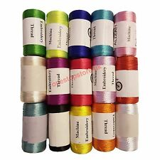 15 Vibrent Spools Sewing Machine Silk Art Embroidery Threads JANOME GUTERMAN