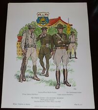 MILITARY UNIFORMS AMERICA NO 255 UNITED STATES 15TH INFANTRY REGIMENT 1925