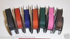 "Spooled Typewriter Ribbons 1/2"" Cloth Ribbon all 7 Custom Colors Ink included"