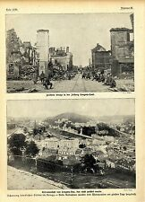 Beispiel Schonung feindlicher Städte Festung Longwy-Haut * Longway-Bas 1.WK 1914