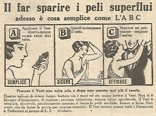 W4316 Crema depilatoria VEET - Pubblicità del 1930 - Vintage advertising