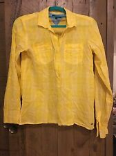 Tommy Hilfiger Yellow White Checked Shirt Size 4 (10) From T K Maxx