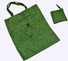 X3 VERDE PIEGHEVOLE Twisted HANDLE Carrier Bag Small Travel Retail REGALO