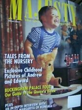 Majesty Magazine Childhood Pictures of Andrew & Edward, V14 #8 August 1993