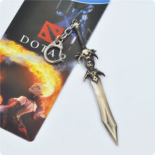 New 4.7'' Dota 2 DEMON EDGE Weapon Model Keychain Alloy Pendant