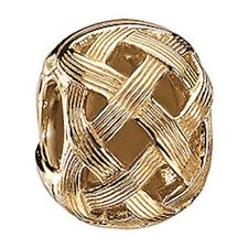 Authentic Chamilia 14K 585 Gold Textured Weave Bead **NEW** LD-40