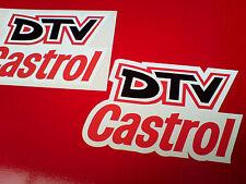 Castrol Dtv Vintage Clásico Rally Motorsport Stickers Calcomanías 130 Mm