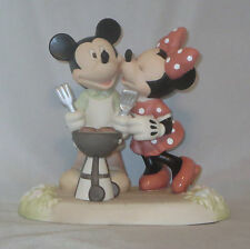 Mickey Mouse Minnie Precious Moments BBQ Disney Kiss The Cook Grilling Yard NWOB