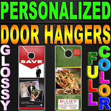 1000 Door Hangers 100LB GLOSSY Full Color 2 Sided 4.25x11 Custom Printed