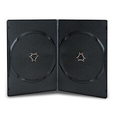 5 BLACK DOUBLE 7mm SLIMLINE DVD/CD CASES WITH SLEEVE- Side by Side