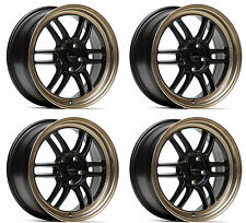 "ULTRALITE F1 17"" x 7.5J ET42 5x114.3 BLACK BRONZE ALLOY WHEELS RPF1 JR7 Y3200"
