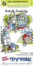 Tryfolds Flower Shop Set Cling Unmounted Rubber Stamps AI Art Impression NEW